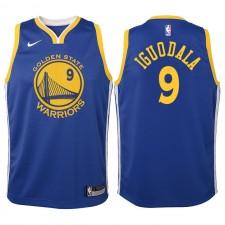 Enfants Golden State Warriors & 9 André Iguodala Bleu Swingman Maillot-icon Edition