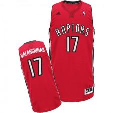 NBA Jonas Valanciunas Swingman Men's Red Jersey - Adidas Toronto Raptors &17 Road