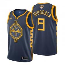 Men's City 2019 NBA Finales Golden State Warriors André Iguodala Navy Maillot
