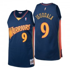 Golden State Warriors Hommes André Iguodala Hardwood Classics & 9 Navy Maillot