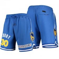 Golden State Warriors Pro Standard &30 Stephen Curry Royal Équipe Joueur Shorts