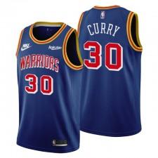 Golden State Warriors Stephen Curry &30 75ème Anniversaire Bleu Maillot