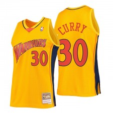 Golden State Warriors Stephen Curry &30 Mitchell & Ness Or HWC Swingman Reload 2.0 Maillot