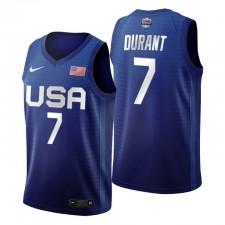 USA Team 2021 Tokyo Olympics Basketball & 7 Kevin Durant Royal Maillot