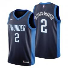 Oklahoma City Thunder No.2 Shai Gilgeous-Alexander Gagné Edition Mailot Marine