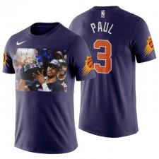 Phoenix Suns & 3 Chris Paul La première finale de sa carrière T-shirt pourpre