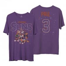 Phoenix Suns Junk Food Chris Paul & 3 Space Jam 2 Home Squad Advantage T-shirt pourpre