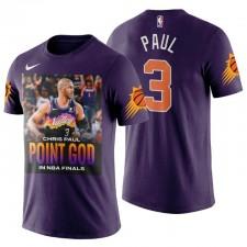 PHOENIX SUNS & 3 CHRIS PAUL POIN POINT T-shirt DIEU PURPLE
