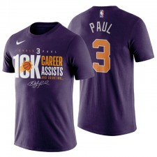 Phoenix Suns & 3 Chris Paul Nouvelle Carrière High 10K T-shirt T-shirt Violet