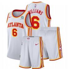 Atlanta Hawks Nike Lou Williams & 6 Blanc Association Salle de gymnastique