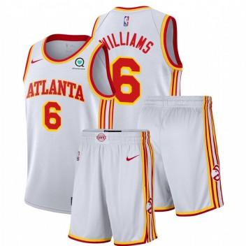 Atlanta Hawks Nike Lou Williams # 6 Blanc Association Salle de gymnastique