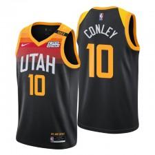 Utah Jazz & 10 Mike Conley Swingman Noir Maillot City Edition 2021