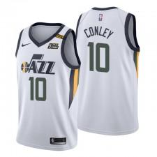 Utah Jazz No. 10 Mike Conley Maillot Blanc Association Edition