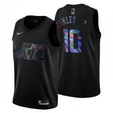 Utah Jazz Mike Conley Jr. & 10 Iridescent Holographique Maillot Noir