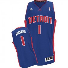 NBA Reggie Jackson Swingman Men's Royal Blue Jersey - Adidas Detroit Pistons &1 Road