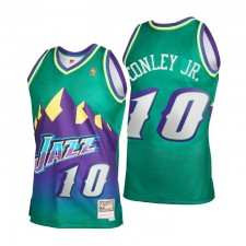 Utah Jazz Mike Conley Jr. & 10 Mitchell & Ness 2021 Recharger 2.0 Distribution Green Maillot