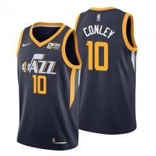 Utah Jazz & 10 Mike Conley Maillot Noir Icon Edition
