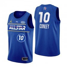 Utah Jazz no. 10 Mike Conley 2021 NBA All-Star Bleu Maillot