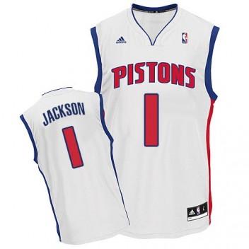 NBA Reggie Jackson Swingman Hommes Blanc Maillot - Adidas Magasin Detroit Pistons #1 Home
