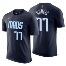 Mavericks gagné Edition & 77 T-shirt de marine Doncic Doncic