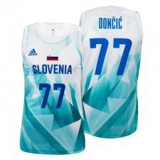 Slovénie Basketball Tokyo Olympics & 77 Luka Doncic Blanc Maillot