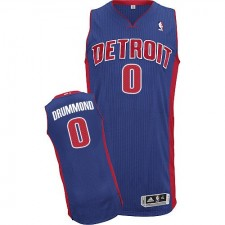 NBA Andre Drummond Authentic Men's Royal Blue Jersey - Adidas Detroit Pistons &0 Road