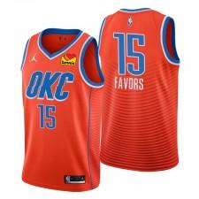 Oklahoma City Thunder Déclaration Édition Derrick Favors & 15 Orange Swingman Maillot
