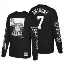 Los Angeles Lakers Big Face 3.0 Classes de feuillus T-shirt à manches longues Carmelo Anthony & 7 Noir
