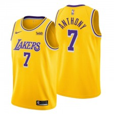 Los Angeles Lakers icon Edition & 7 Carmelo Anthony Gold Maillot Swingman