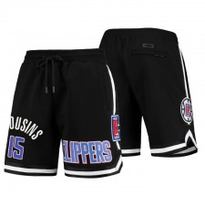 Los Angeles Clippers Team Player & 15 Demarcus Cousins Noir Pro Standard Shorts