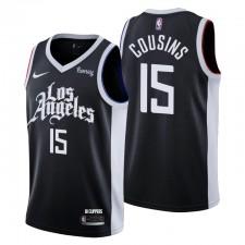Los Angeles Clippers No. 15 Demarcus Cousins Noir Swingman City Edition Maillot