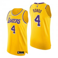 Los Angeles Lakers & 4 Rajon Rondo authentique icon édition Gold Maillot