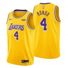 Los Angeles Lakers Icon Edition & 4 Rajon Rondo Gold Maillot Swingman