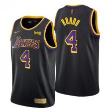 Los Angeles Lakers gagné Edition & 4 Rajon Rondo Noir Swingman Maillot