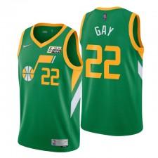 Utah Jazz gagné Edition & 22 Rudy Gay Green Swingman Maillot