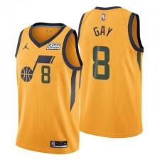 Utah Jazz Déclaration Edition Rudy Gay # 22 Gold Swingman Maillot