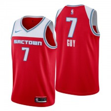 Sacramento Kings City Edition # 7 Kyle Guy Maillot Red