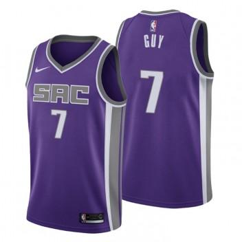 Sacramento Kings icon Edition Maillot Kyle Guy 7 Noir 2020-21