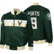 Milwaukee Bucks No. 9 Bobby Portis Plein-Zip The Ambassadeur Hunter Veste verte