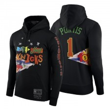 New York Knicks no.1 Bobby Portis Br Remix HWC Limited Edition Sweat à capuche Noir