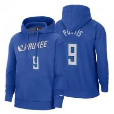 Milwaukee Bucks Bobby Portis City Pullover Sweat à capuche Bleu