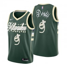 Milwaukee Bucks Santa Clause Maillot Cadeau de Noël Bobby Portis 9 Green 2020