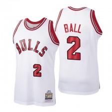 Chicago Bulls 1984-185 Classics Hardwood Lonzo Ball N ° 2 Blanc Swingman Maillot