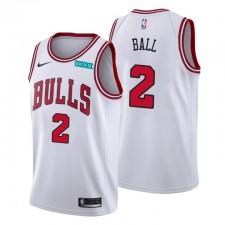Chicago Bulls Association Edition Lonzo Ball N ° 2 Blanc Swingman Maillot