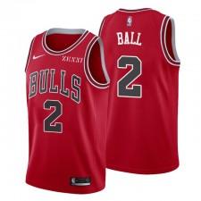 Chicago Bulls icon Edition 2 Lonzo ballon rouge Maillot Swingman