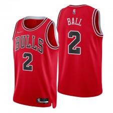 Chicago Bulls Lonzo Ball 75th Anniversary Diamond Rouge  Swingman Maillot Icône
