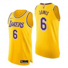 Los Angeles Lakers ^ 6 Lebron James authentique icon édition Gold Maillot