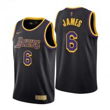 Los Angeles Lakers a gagné édition ^ 6 Lebron James Noir Swingman Maillot