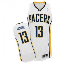 NBA Paul George Authentic Youth White Jersey - Adidas Indiana Pacers &13 Home