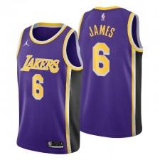 Los Angeles Lakers Déclaration Édition Maillot No.6 LeBron James Violet 2021-22
